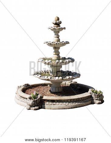 Vintage courtyard fountain