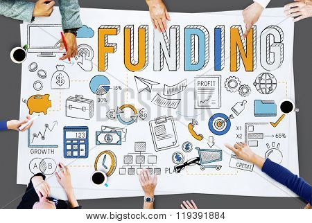 Funding Economy FInancial Collection Fund Concept