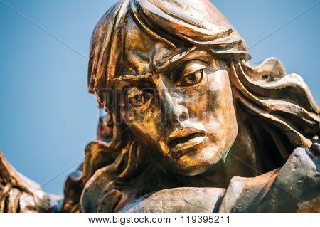 Close up of Statue Of Archangel Michael On Independence Square I