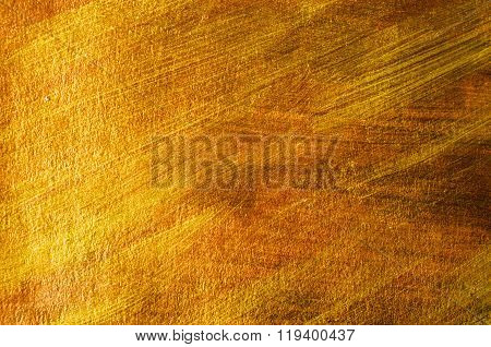 Golden And Bronze Paint Background