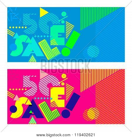 Design template with abstract background - Sale_03