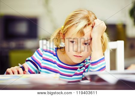 Girl Is Doing Homework