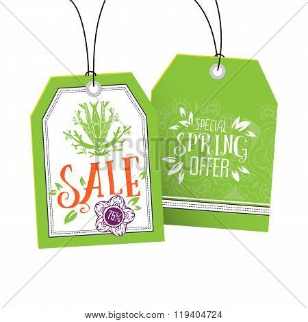 Sale and Special Spring Offer tags