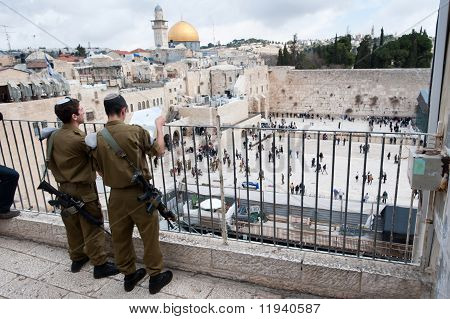 Israeli Soldiers In Jerusalem's Old City