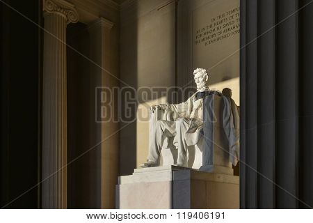 Abraham Lincoln Statue at Lincoln Memorial - Washington DC, United States