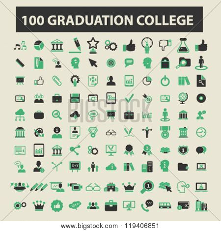 graduation college icons, graduation college logo, graduation college vector, graduation college flat illustration concept, graduation college infographics, graduation college symbols,