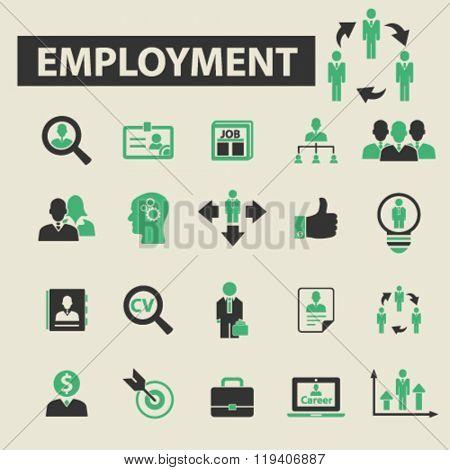 employment icons, employment logo, employment vector, employment flat illustration concept, employment infographics, employment symbols,