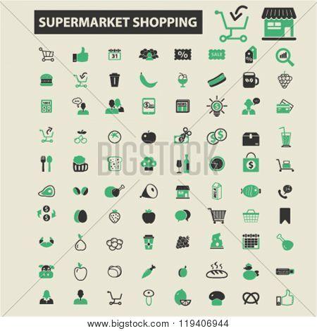 supermarket shopping icons, supermarket shopping logo, supermarket shopping vector, supermarket shopping flat illustration concept, supermarket shopping infographics, supermarket shopping symbols,