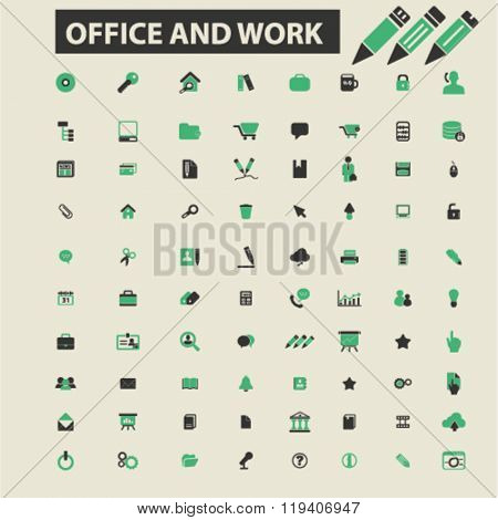 office work icons, office work logo, office work vector, office work flat illustration concept, office work infographics, office work symbols,