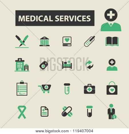 medical services icons, medical services logo, medical services vector, medical services flat illustration concept, medical services infographics, medical services symbols,