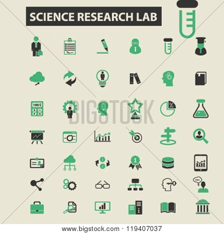 science research lab icons, science research lab logo, science research lab vector, science research lab flat illustration concept, science research lab infographics, science research lab symbols,