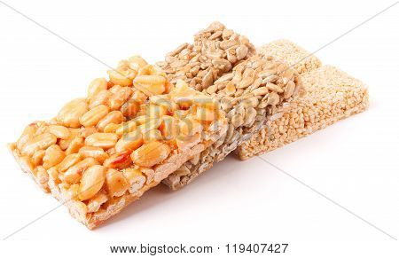 Honey bars with peanuts, sesame  and sunflower seeds