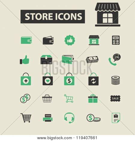 store icons, store logo, store vector, store flat illustration concept, store infographics, store symbols,