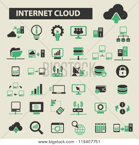 internet cloud icons, internet cloud logo, internet cloud vector, internet cloud flat illustration concept, internet cloud infographics, internet cloud symbols,
