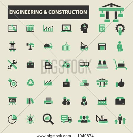 engineering construction icons, engineering construction logo, engineering construction vector, engineering construction flat illustration concept, engineering construction infographics