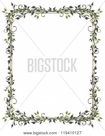 Leaves, frame