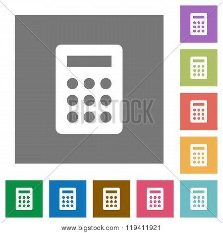 Calc Square Flat Icons