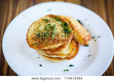 Vegetable fritters with cabbage and dill