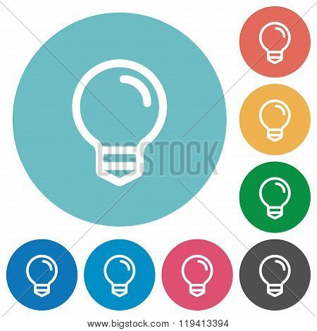 Flat Light Bulb Icons