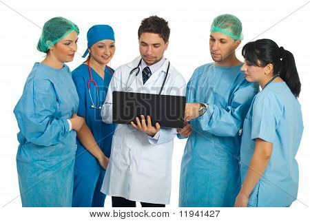 Doctors Team Using Laptop