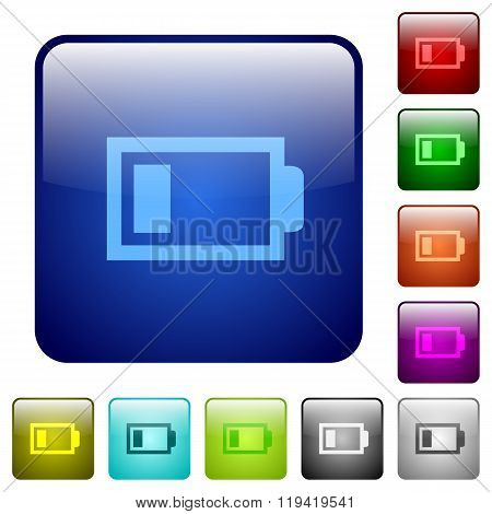 Color Low Battery Square Buttons