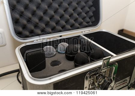 Microphones in a suitcase
