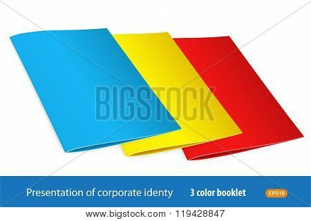 A Set Of Booklets Of 3 Colors