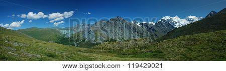 Panorama Of Belukha Mountain, Altai, Russia
