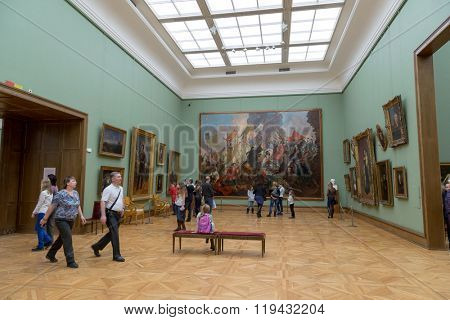 Moscow, Russia - November 5, 2015: The State Tretyakov Art Gallery