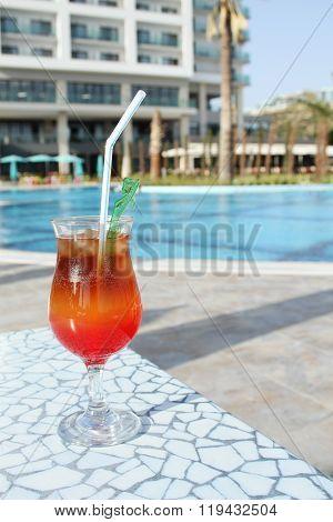 Cocktail Drinks Poolside