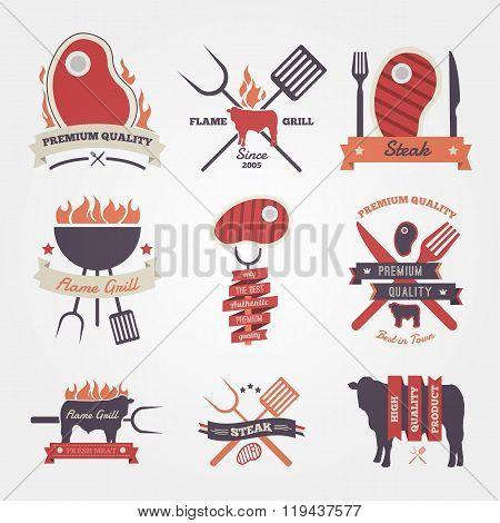 Steak vintage label design