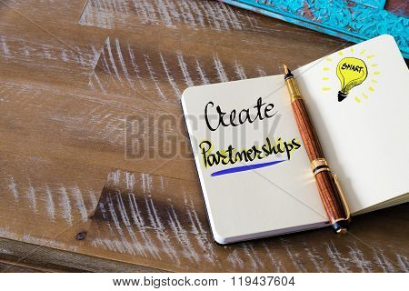Written Text Create Partnerships