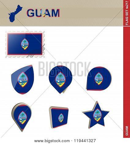 Guam Flag Set, Flag Set #217