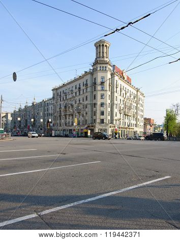 MOSCOW, Russia - may 06, 2012, House at 17 Tverskaya Street, Moscow