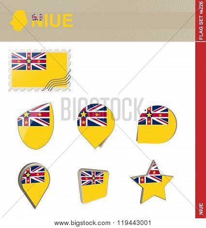Niue Flag Set, Flag Set #226