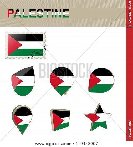 Palestine Flag Set, Flag Set #230