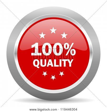 quality red chrome web circle glossy icon