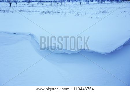 Winter snowdrift, outdoor