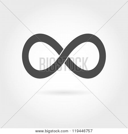 Infinity icon. Simple mathematical sign Isolated on White