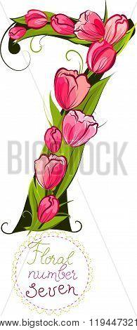 Floral number seven