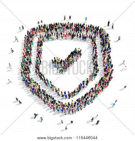 people  shape  shield