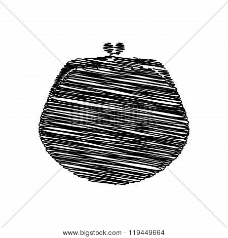 Black icon with scribble effect