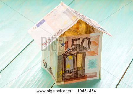 House Made From Fifty Euro Banknotes
