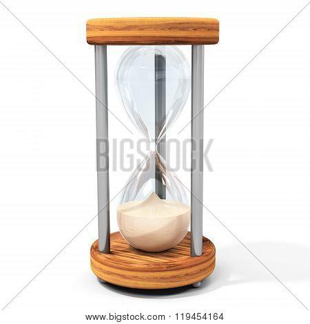 3D Transparent Sand Hourglass
