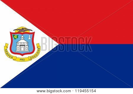 Standard Proportions For Sint Maarten Flag