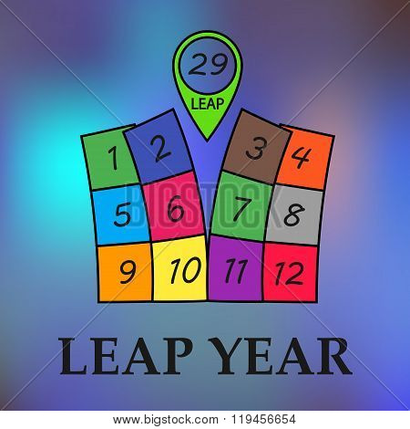 Leap year illustration