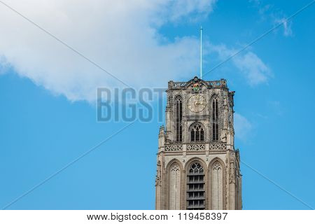 Spire Great Or St. Lawrence Church In Rotterdam