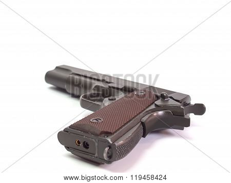 Gun , Placed On A White Background
