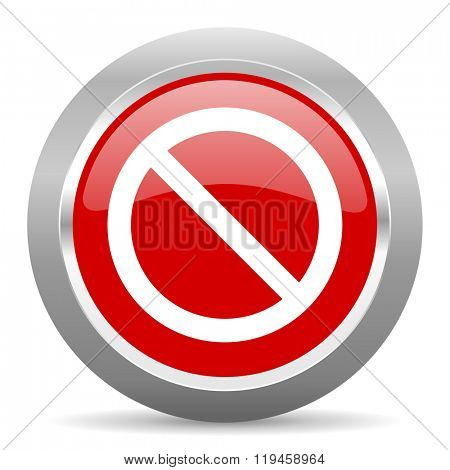 access denied red chrome web circle glossy icon