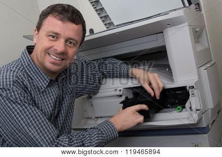 Maintenance And Repair The Printer At Work